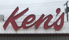 Type and Lettering: South Dakota Ken's #channel #neo #sign #ken barber