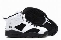 Air Jordan 6 Retro White/Black Kids\'s