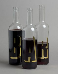 CAN CISA #bottle #packaging #wine #gold #type #metallic #foil #typography