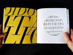 Dever Elizabeth #die #cut #italic #specimen #print #design #book #didot #type
