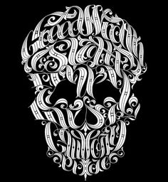 we love typography. a place to bookmark and savour quality type-related images and quotes #lettering #letters #type #skull #typography