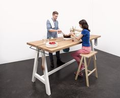 Design solution for cooking, dining and socialization: The Cooking Table by Putzier Moritz