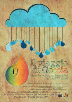 """Filippo Fanciotti graphic design for """"il viaggio di Goccia"""" theater play"""