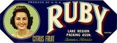 All sizes | Ruby Citrus Fruit Crate Label | Flickr - Photo Sharing! #retro #logo #illustration #vintage #type