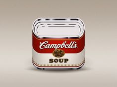 Dribbble - Campbells by Julian Burford #icon #illustration #food