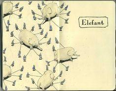 Moleskine Sketches by Mattias Adolfsson   Best Bookmarks