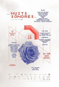 Superscript² / Nuits Sonores 2012 #music #design #poster
