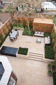 Source Randle Siddeley #garden design #modern garden