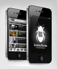 Interactive - BUG Music Videos App - websitesarelovely - Neil Richards - Freelance Digital Designer