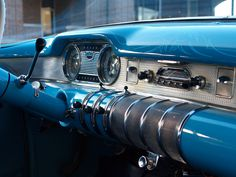 Buick roadmaster dashboard, retro car, vintage, dashboard