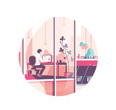 "illustration for the french company ""Gecina"" #vector #business #icon #office #tom #illustration #haugomat #work"