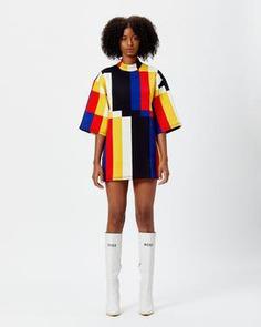 Oversized Scuba T-Shirt Dress