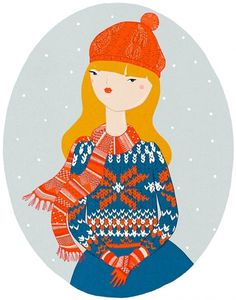 KRISATOMIC #drawing #girl #winter