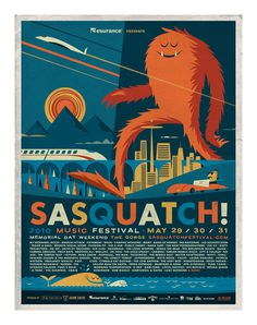Sasquatch! Music Festival 2010 poster by Invisible Creature #music #illustration #poster