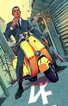 Roxie vizcarra #moto #man #illustration