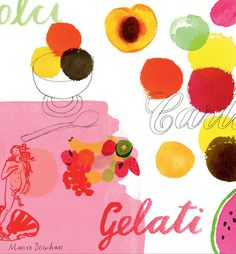 Carluccio's Summer Menu 2011 | Irving #illustration #menu