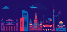 Moscow city on Behance