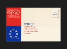 Expo 67 Information Postcard - Canada Modern