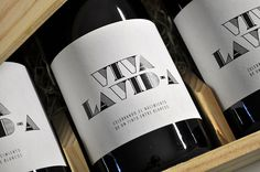 Viva la Vida The Dieline #white #lable #packaging #black #wine #and