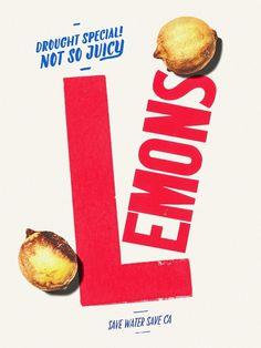 DROUGHT_POSTER_LEMONS_fnl #drought #lemon #california #poster