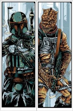Exclusive: Olly Moss Reimagines Original Star Wars Trilogy for Mondo | Underwire | Wired.com #boba #bossk #wars #fett #illustration #star