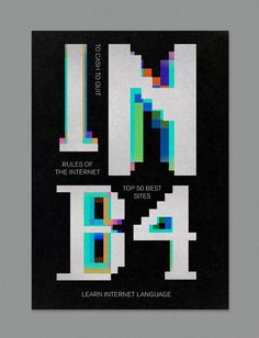 INB4 on Behance #msdos #poster #typography