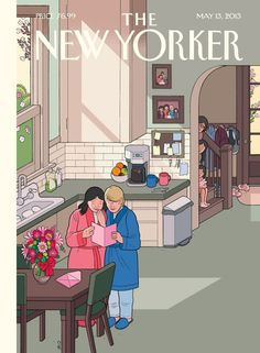 Chris Ware cover illustration New Yorker Mother's Day 2015