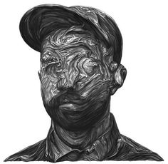 brok-lee: Woodkid #kid #wood #illustration #portrait #cap #baseball