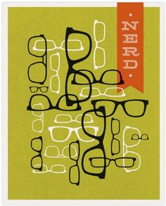 40+ Vintage Posters to Inspire Your Next Designs Color Palette #glasses #eye #illustration