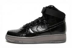 Nike Air Force 1 Hi Premium Black/Black | Hypebeast #air #force #black #patent #nike #leather #1