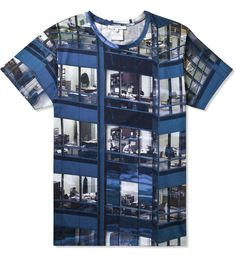 Carven Carven x Michael Wolf Granite Liquette T Shirt | Hypebeast Store #voyeur #shirt #all #over #photography #building #wolf #blue #michael