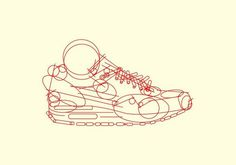Phase 1: Nike Airmax 1 Illustration #illustration #design #vector
