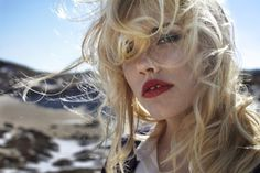 Words for Young Men #wind #red #woman #lips #blonde
