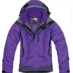 North Face 3 In 1 Jacket Purple-Womens