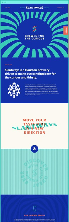 Slantways Brewing – Website Design #beer #brewery #website #design #houston