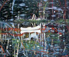 White Canoe #white #color #peter #painting #doig