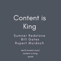 #Content is King quote by Sumner Redstone Bill Gates Rupert Murdoch
