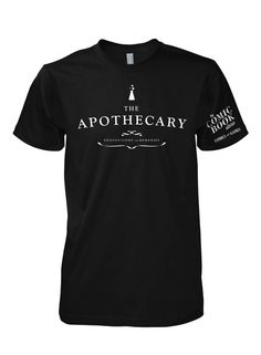 Apothecary #white #sciencek #serif #tshirt #black #shirt #tee #type #typography