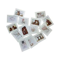 Collage Photo Frame - White Heart 10 cm x 15 cm - Set of 14