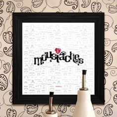 Moustache Print #print #design #graphic #moustaches #wall
