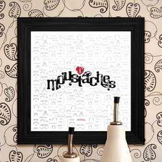 Moustache Print #print #design #graphic #moustaches #wall