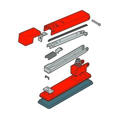 Russell Bell | Portfolio #layers #illustration #stapler #parts