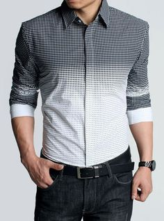 Patterned Ombre #fashion #mens #photography #shirt