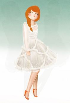 The perfect white dress « KRISATOMIC #kris #illustration #dress #atomic