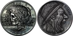 Remarkable Hobo Nickels Carved from Clad Coins by Paolo CurcioDecember 27 #coin #carved