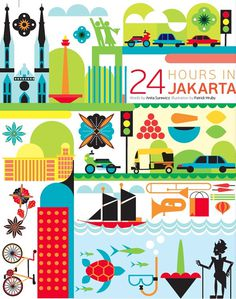 24 hours in Jakarta Indonesia #jakarta #indonesia #illustration #qatar #art #airways