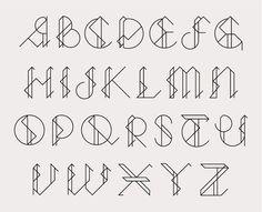fractus type Callum Green #typography