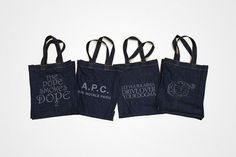 A.P.C. Denim Tote Bags | Hypebeast #bag #denim #tote