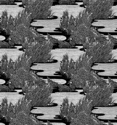 Spring 2010 Illustrations - Micah Lidberg on the Behance Network #pattern #white #black #and