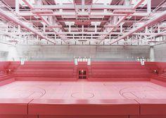 Allmann Sattler Wappner Architekten #interior #sports #architecture #pink